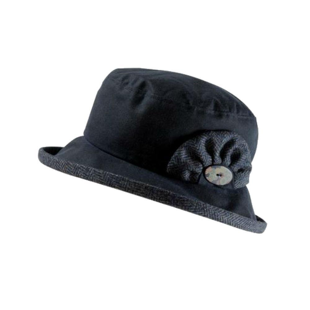 Waterproof Waxed Cotton and Wool Hat-Hats-Proppa Toppa-Dark Blue-Tegen Accessories