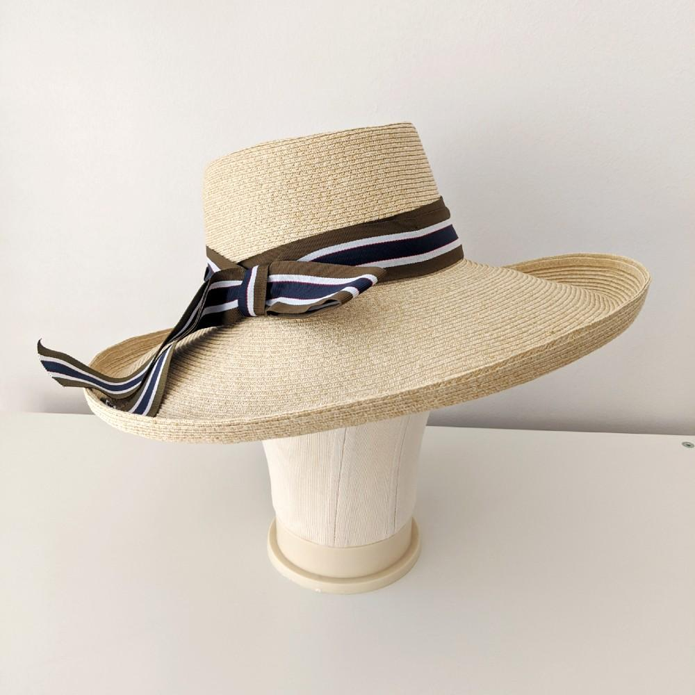 Wide Brim Boater Sun Hat Tegen Accessories Suzanne Bettley Cream
