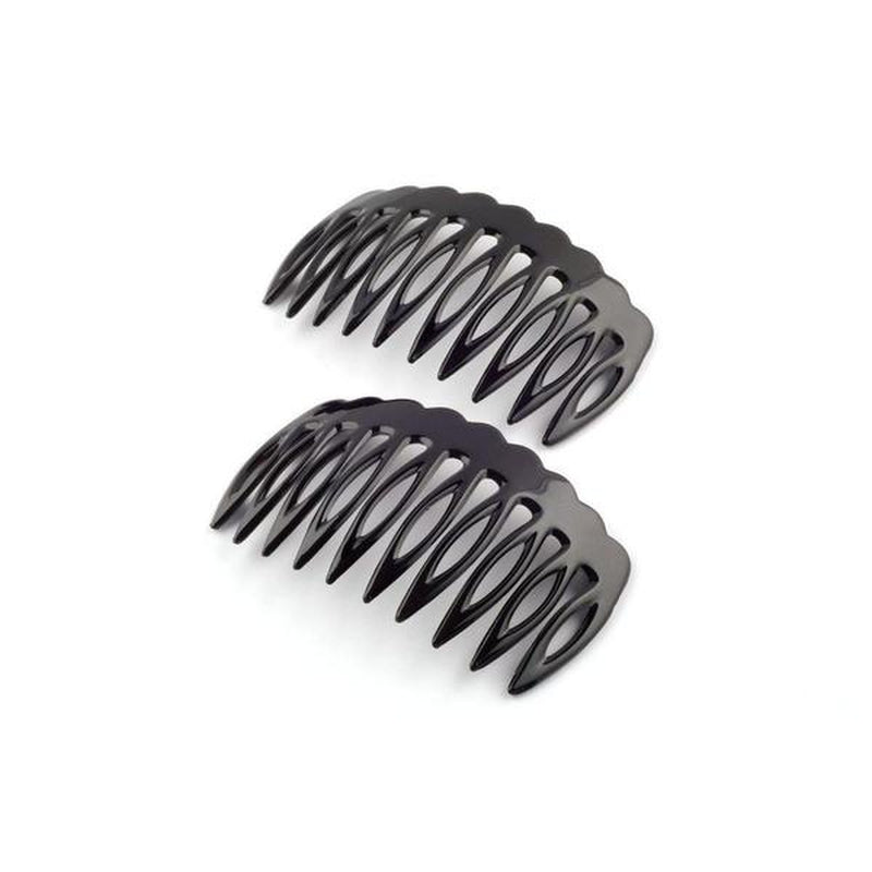 Wide Toothed Side Combs-Hair combs-Essentials-Tortoiseshell-Brown-Tegen Accessories Brown