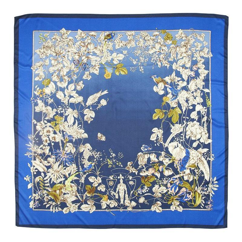 Wildflower Large Silk Scarf-Scarves-Rosie Fox-Cream-Tegen Accessories Red