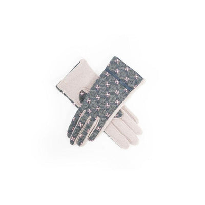 Wilma Wool Gloves-Discontinued-Stone/Charcoal-Tegen Accessories