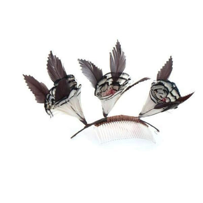 Woodland Feather Fascinator-Discontinued-Comb-Tegen Accessories