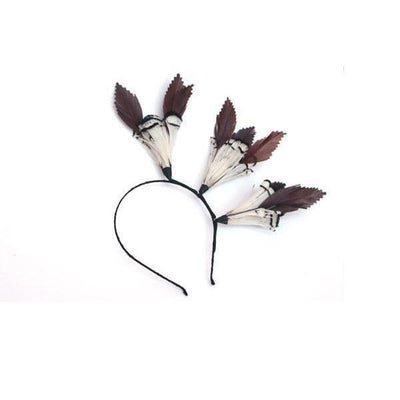 Woodland Feather Fascinator-Discontinued-Headband-Tegen Accessories