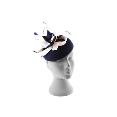 Wool Pillbox Hat-Discontinued-Navy-Tegen Accessories