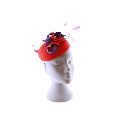 Wool Pillbox Hat-Discontinued-Red-Tegen Accessories