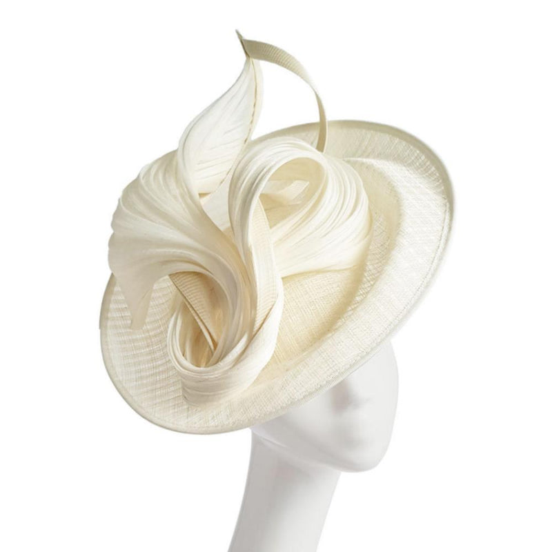 Woven Ivory Disc Fascinator-Fascinators-Peter Bettley-Tegen Accessories