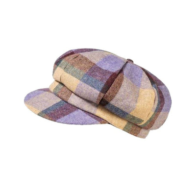 Yorkshire Wool Checkered Cap-Hats-Proppa Toppa-Lilac-Tegen Accessories