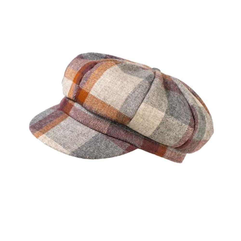 Yorkshire Wool Checkered Cap-Hats-Proppa Toppa-Rust-Tegen Accessories
