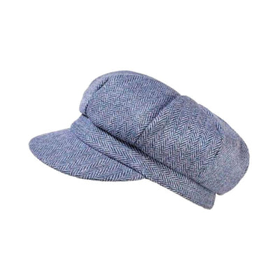 Yorkshire Wool Tweed Cap-Hats-Proppa Toppa-Blue-Tegen Accessories
