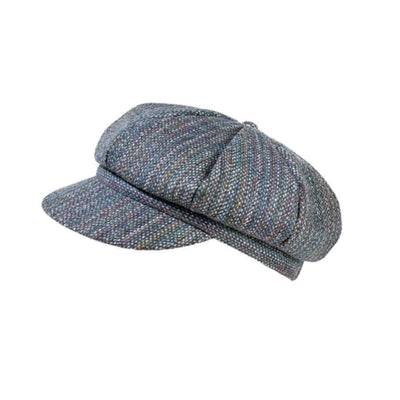 Yorkshire Wool Tweed Cap-Hats-Proppa Toppa-Petrol-Tegen Accessories