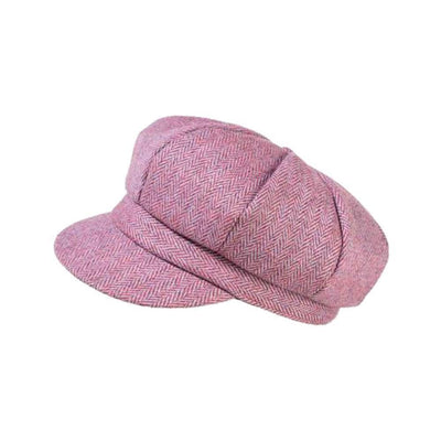 Yorkshire Wool Tweed Cap-Hats-Proppa Toppa-Raspberry-Tegen Accessories