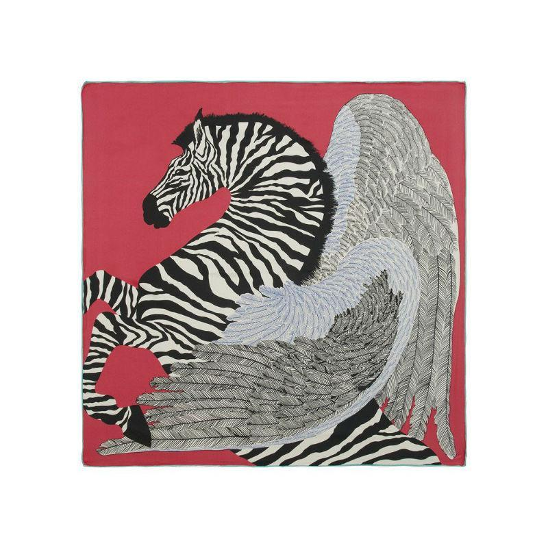 Zebra Print Silk Scarf-Scarves-Rosie Fox-Emerald-Tegen Accessories Green