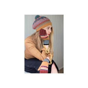 Zig Zag Lambswool Gloves-Discontinued-Botanical-Tegen Accessories