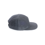 Black - Waxed Canvas Blank 5 Panel Hat for Wholesale or Custom