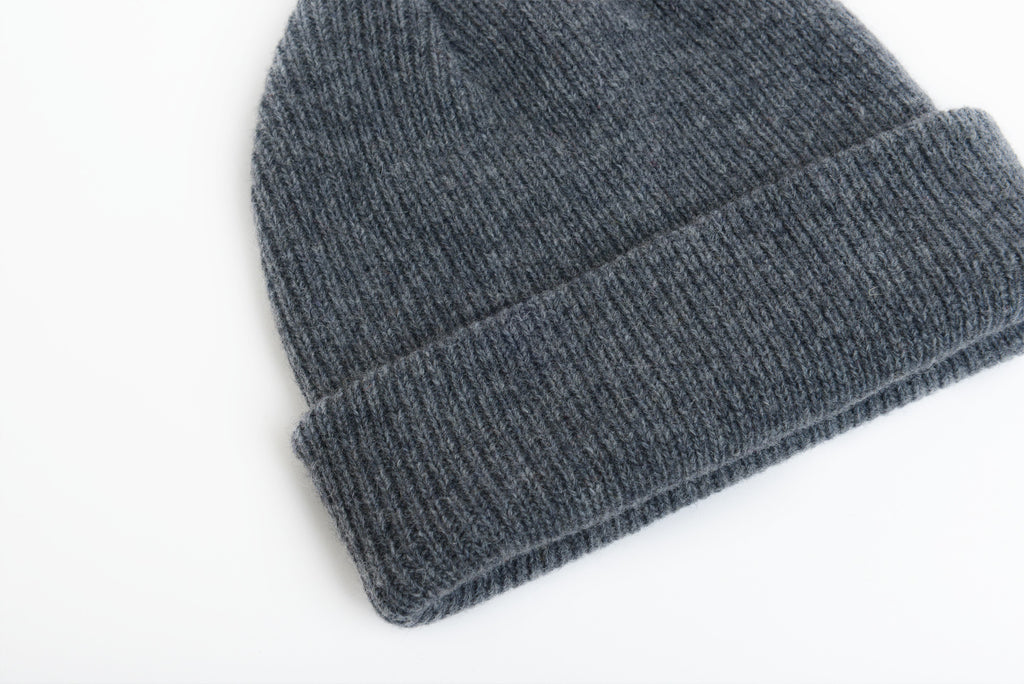 Dark Grey - Merino Wool Blank Beanie Hat for Wholesale or Custom