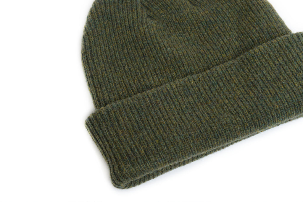 Forest Green - Merino Wool Blank Beanie Hat for Wholesale or Custom
