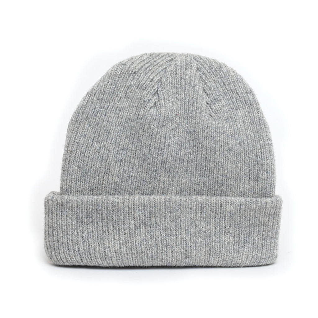 Light Grey - Merino Wool Blank Beanie Hat for Wholesale or Custom 6e1654387c6