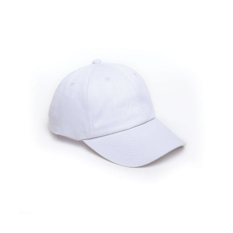 White - Dad Caps for Wholesale or Custom
