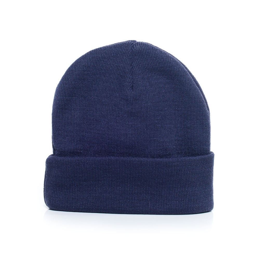 Navy Blue - Acrylic Rib-Knit Beanie Hat for Wholesale or Custom