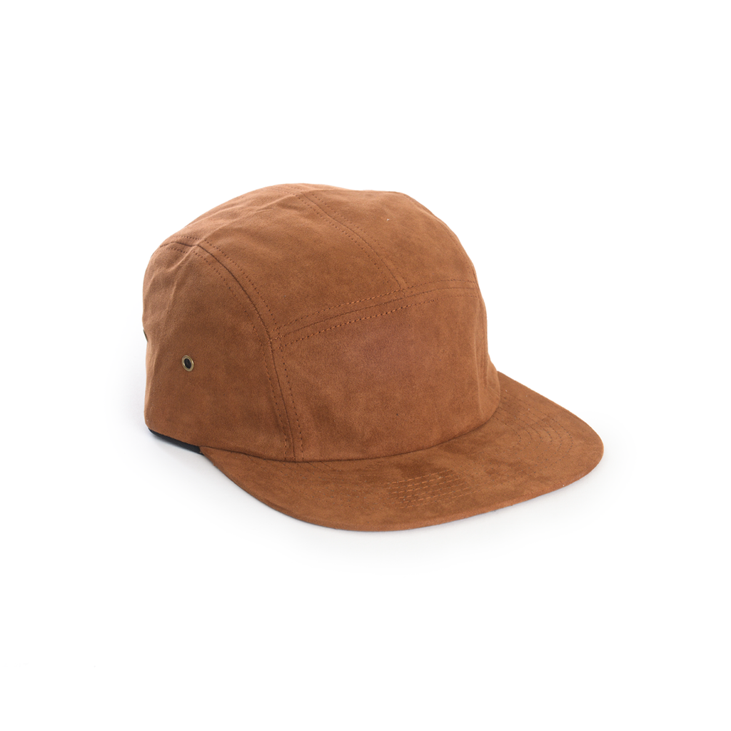 d3b449f2340 Brown Full Suede Blank 5 Panel - Blank Camp Cap – DELUSION MFG