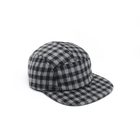 Checkered Wool 5 Panel Black Grey