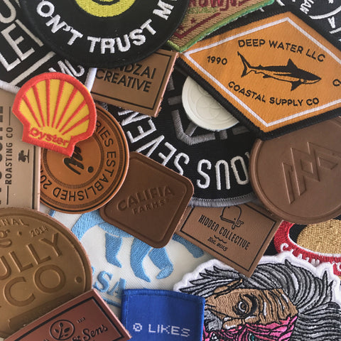 Custom leather patches embroidery patches low minimum
