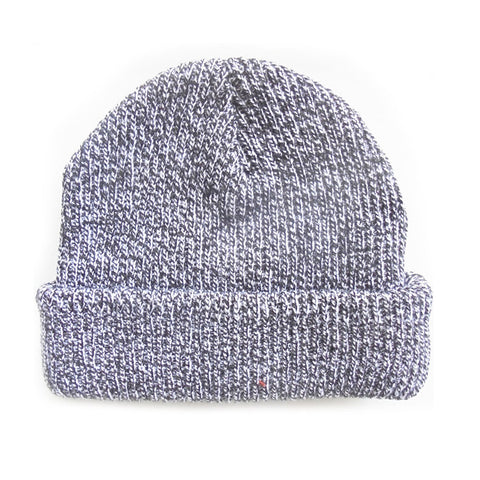 Black / White Blank Mixed Beanie