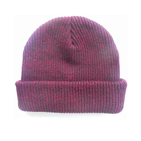 Maroon - Blank Mixed Beanie Hat for Wholesale or Custom