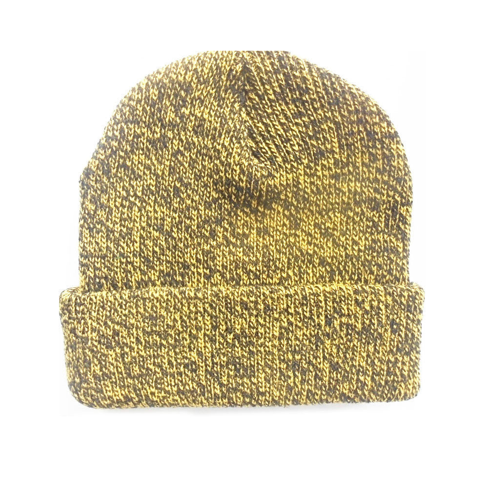 Yellow - Blank Mixed Beanie Hat for Wholesale or Custom