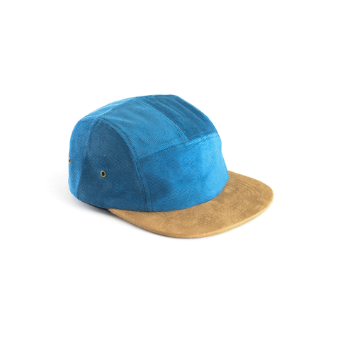 Blue Corduroy & Suede Blank 5 Panel