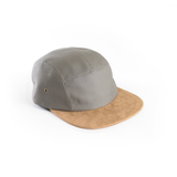 Grey & Suede - Blank 5 Panel Hat for Wholesale or Custom