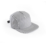 Jailhouse Stripe Black White Blank 5 Panel