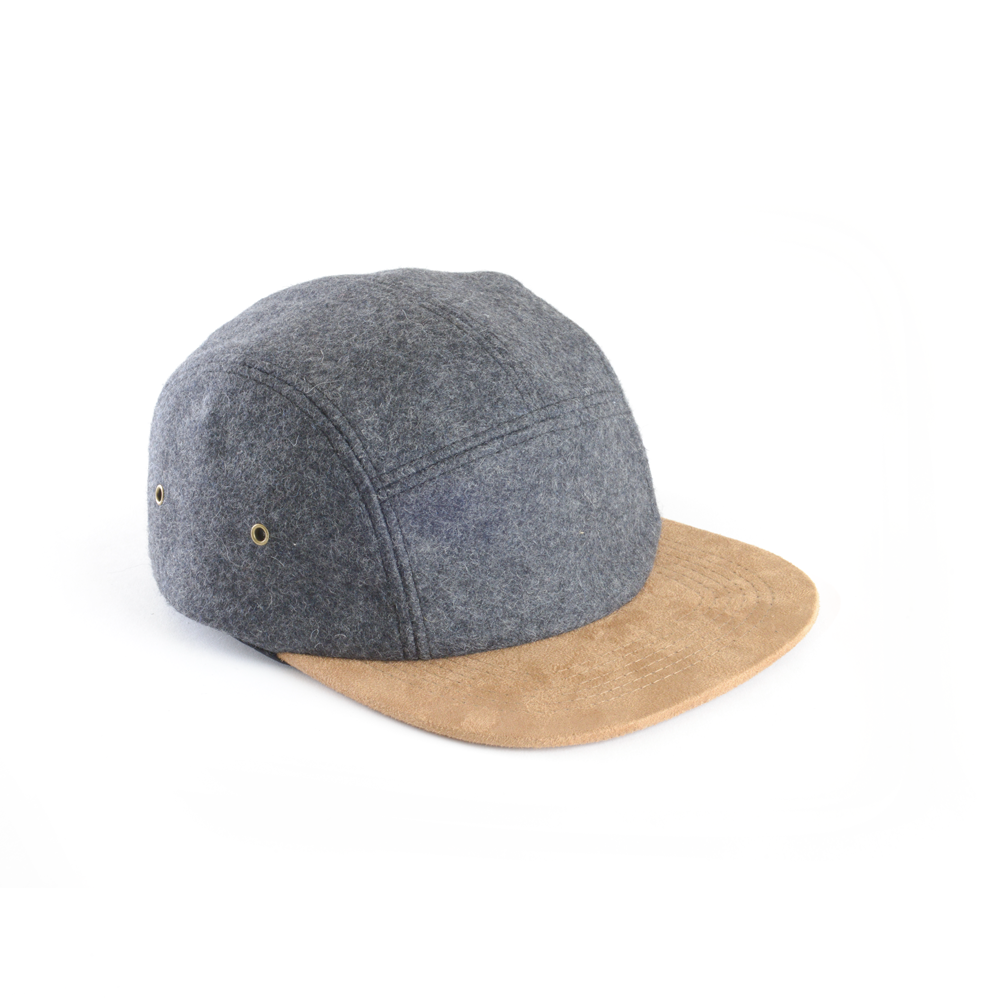 8452d73be00 Wool   Suede Blank 5 Panel Hat for Wholesale or Custom