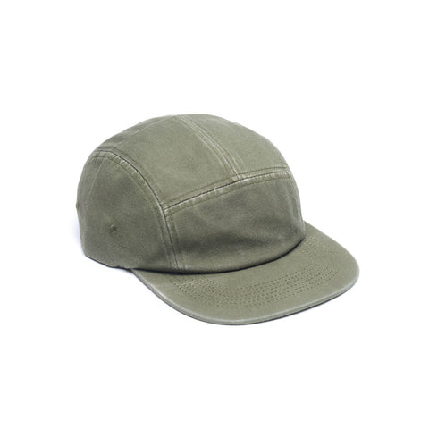 Faded Cotton Twill Blank 5 Panel - Army Green