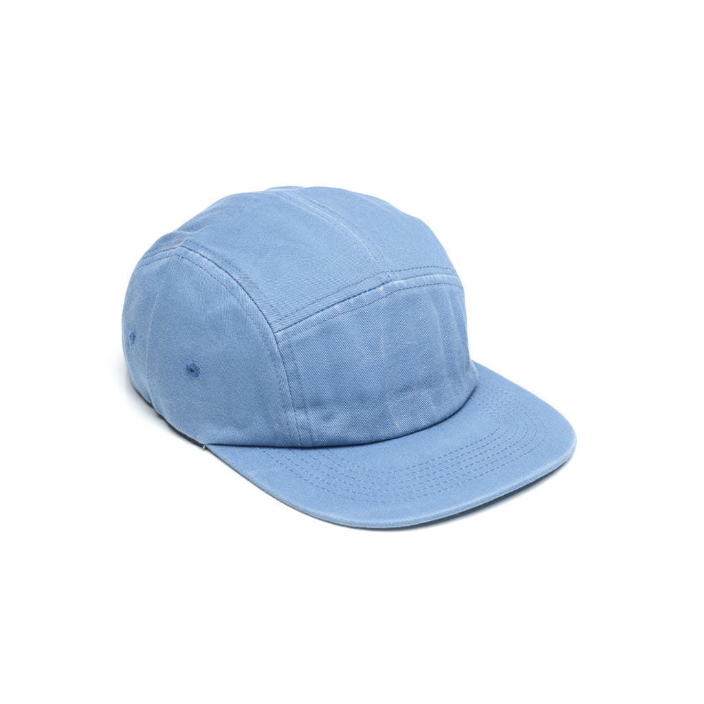 Baby Blue - Faded Cotton Twill Blank 5 Panel Hat for Wholesale or Custom
