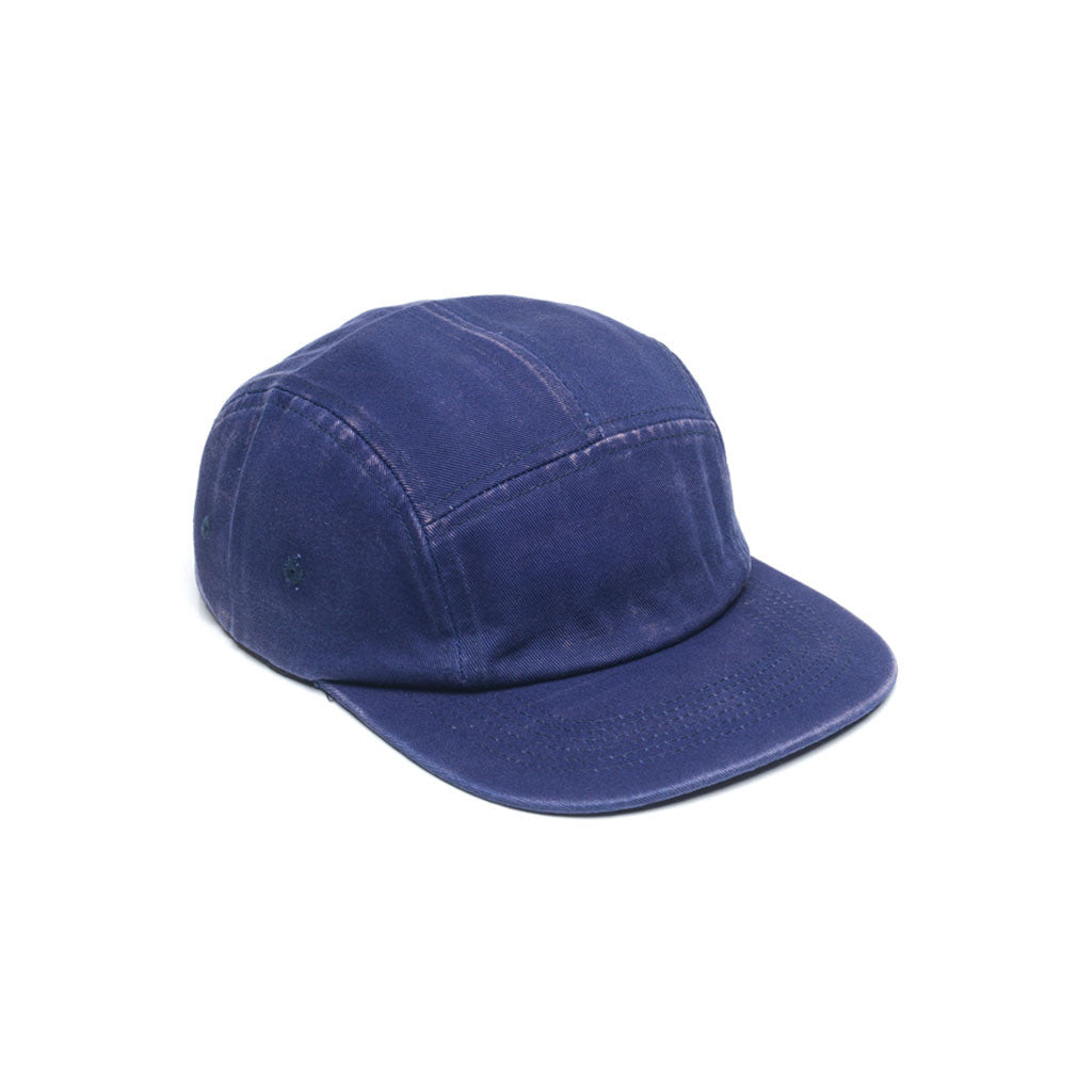 Navy Blue - Faded Cotton Twill Blank 5 Panel Hat for Wholesale or Custom
