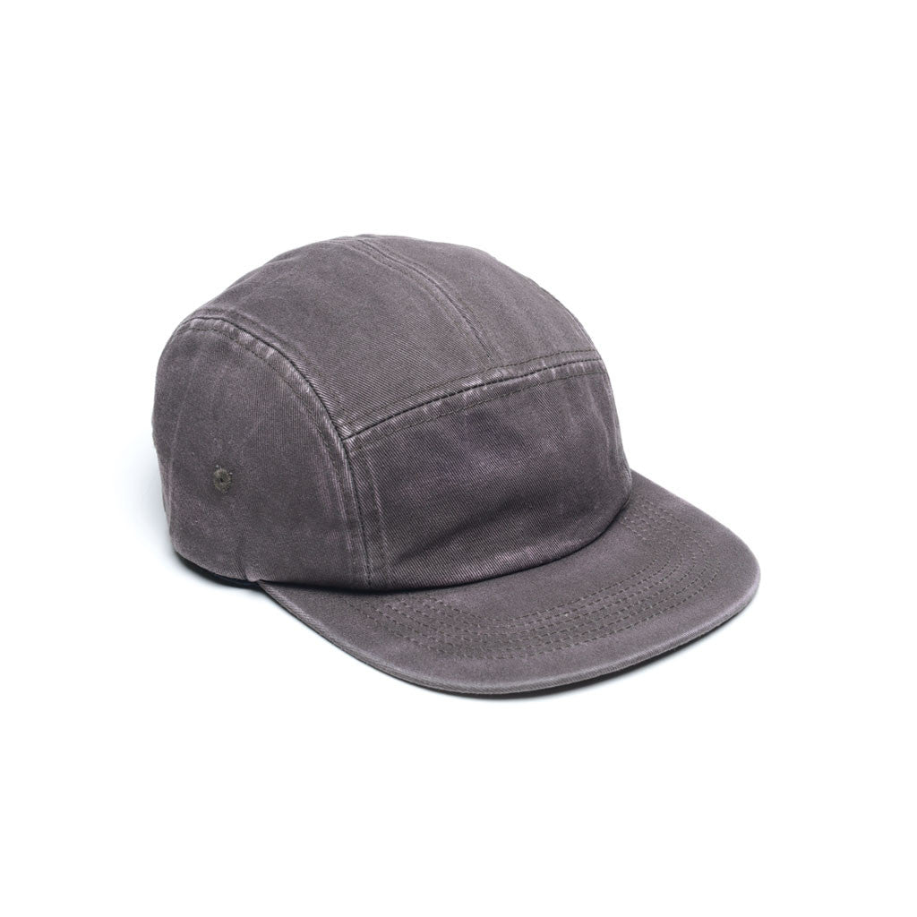 Slate Grey - Faded Cotton Twill Blank 5 Panel Hat for Wholesale or Custom
