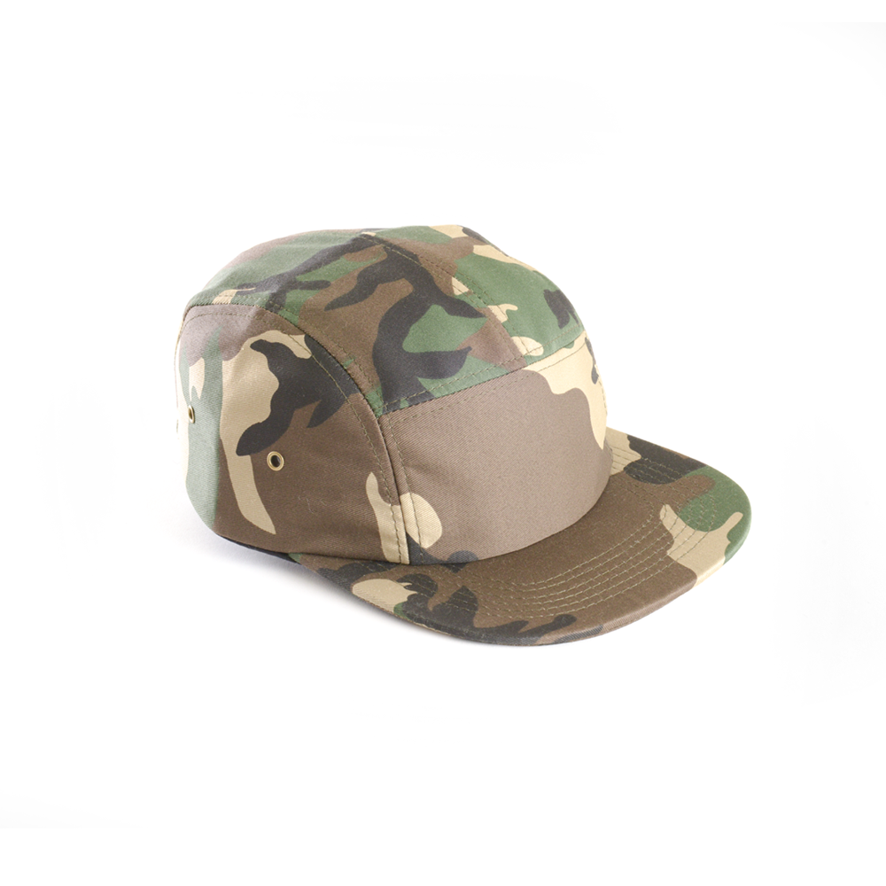 Full Camo - Blank 5 Panel Hat for Wholesale or Custom