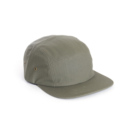 Green Ripstop Cotton Blank 5 Panel