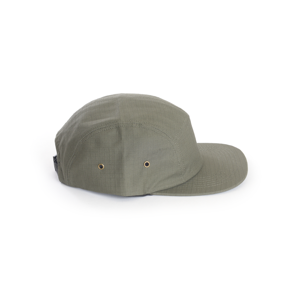 Green - Ripstop Cotton Blank 5 Panel Hat for Wholesale or Custom