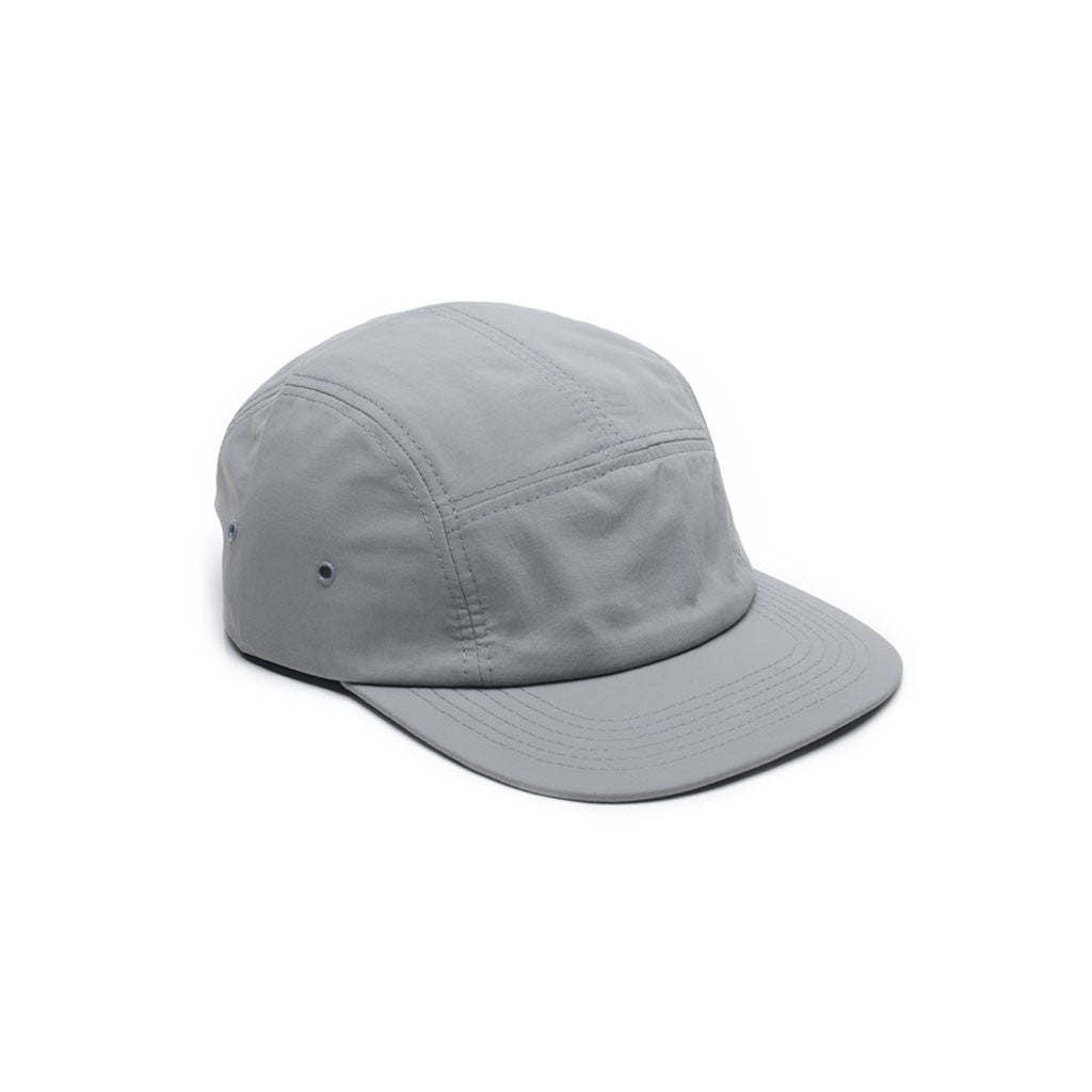 Light Grey - Nylon 5 Panel Hat for Wholesale or Custom