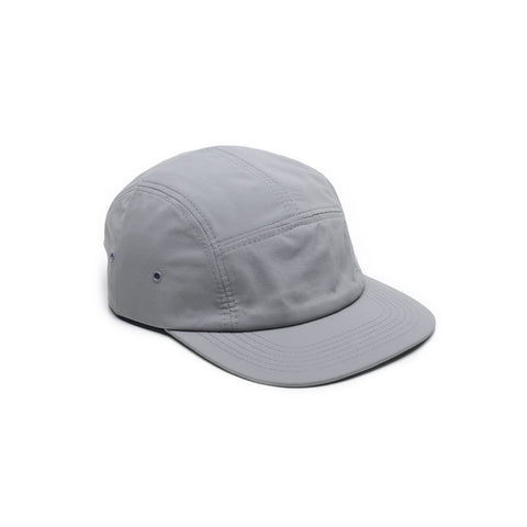 Taslan Nylon 5 Panel Camp Cap Light Grey Blank