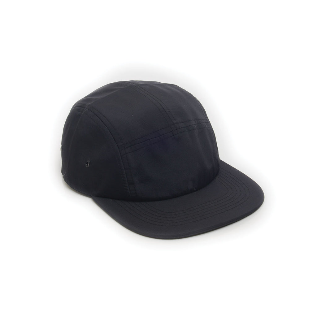 Black - Nylon 5 Panel Hat for Wholesale or Custom