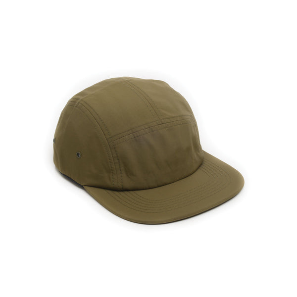 Blank Nylon 5 Panel Camp Cap - Forest Green