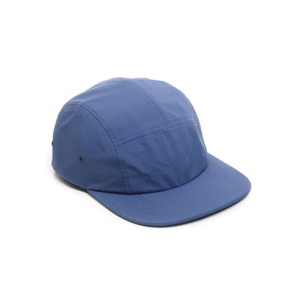 Blank Nylon 5 Panel Camp Cap - Navy Blue
