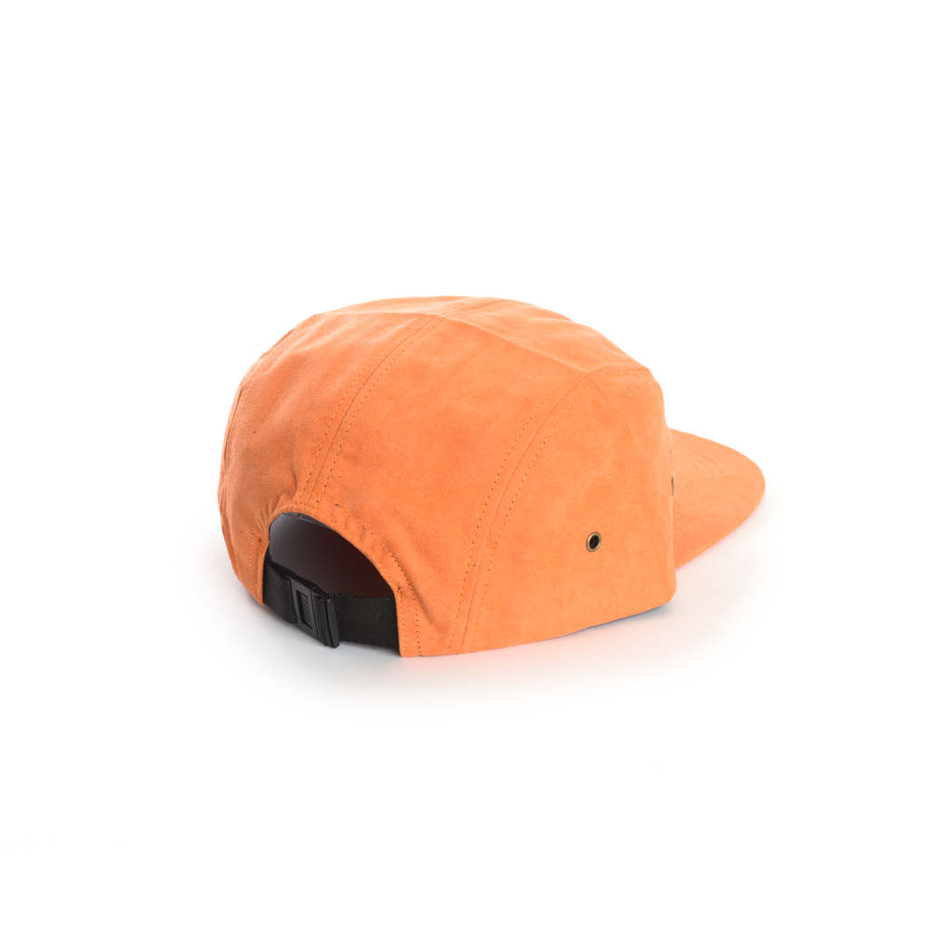 Orange - Full Suede Blank 5 Panel Hat for Wholesale or Custom