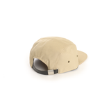 Tan - Polyester Contrast Blank 5 Panel Hat for Wholesale or Custom