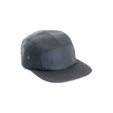 Black Polyester 5 Panel Camper Hat Wholesale