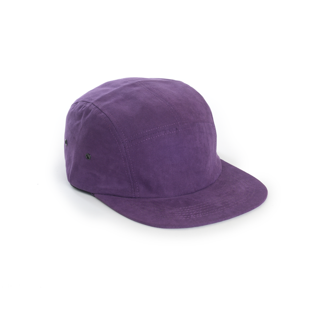 a1615d0d0f2 Purple Full Suede Blank 5 Panel - Blank Camp Cap – DELUSION MFG