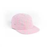 Red White Stripe Seersucker Blank 5 Panel
